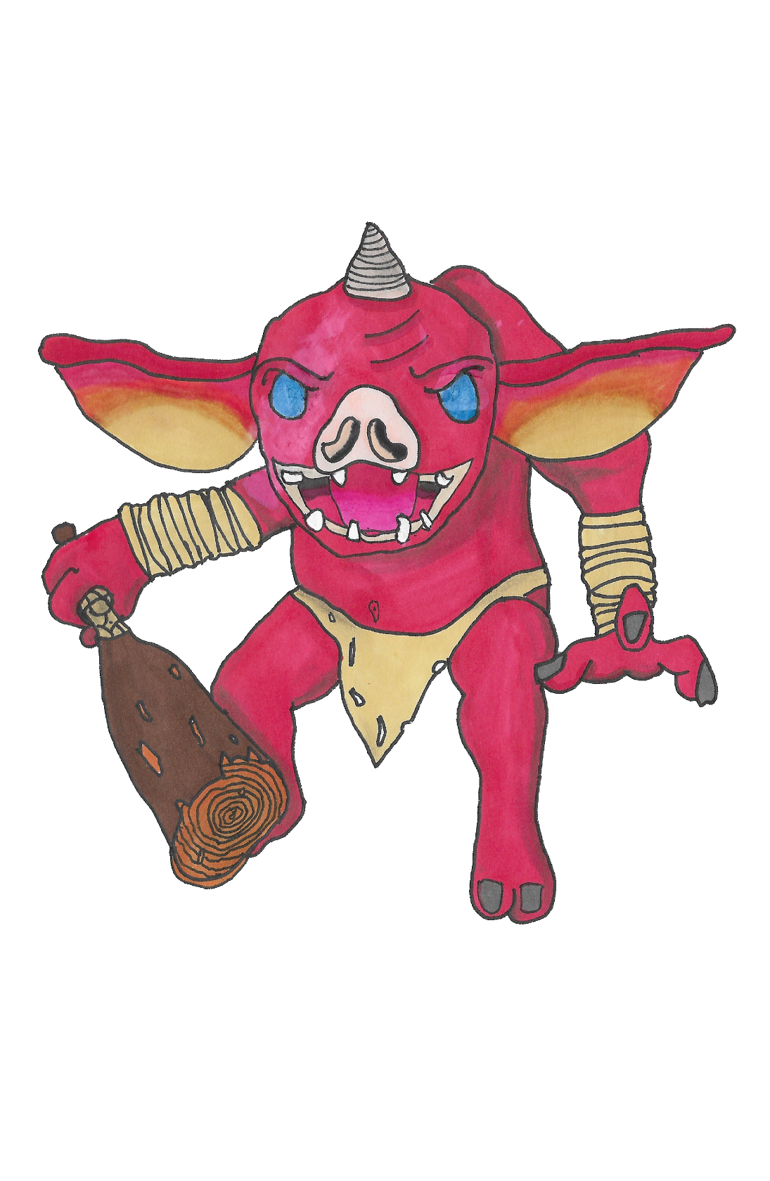 Un Bokoblin Venant De Zelda Breath Of The Wild Valentin