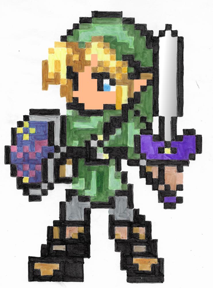 Link Pixel Art Valentin