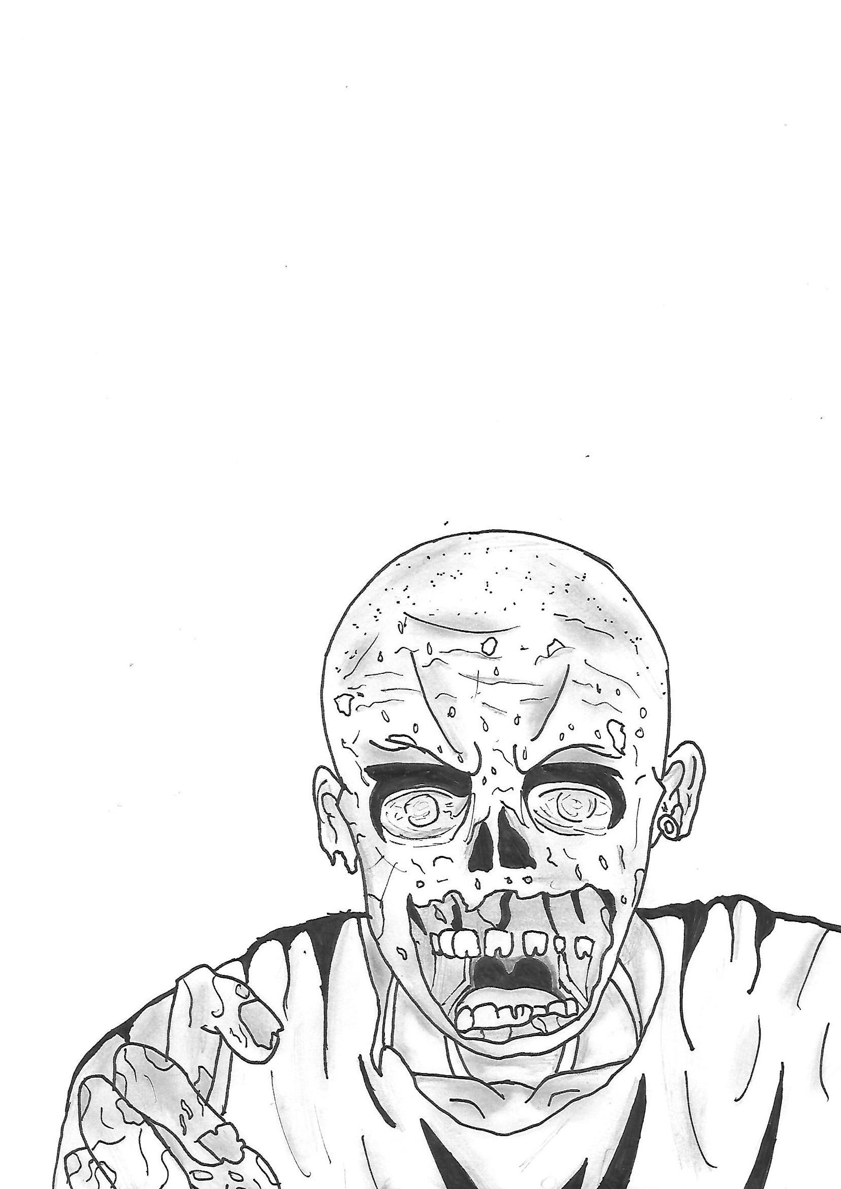 Dessin Zombie Valentin